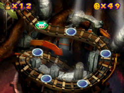 World 4 in the Mini-Game Coaster in the game Mario Party 2.