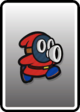A Red Snifit card from Paper Mario: Color Splash
