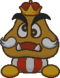 Sprite of the Goomba King, from Paper Mario.