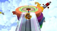 Mario in the Rolling Masterpiece Galaxy