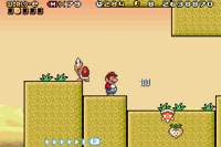 The level Vegetable Volley from Super Mario Advance 4
