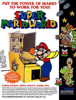 Flyer for Super Mario World (arcade)