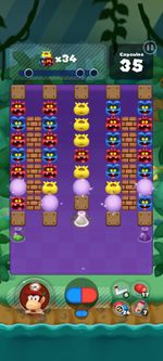 Stage 341 from Dr. Mario World since version 2.0.0