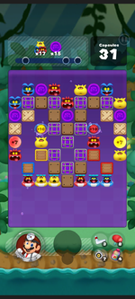 Stage 355 from Dr. Mario World