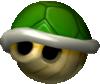 Mario Kart: Double Dash!! promotional artwork: A Green Shell