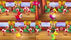 Senseless Census minigame from Super Mario Party