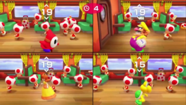 Senseless Census minigame from Super Mario Party