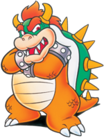 Artwork of Bowser from Super Mario World