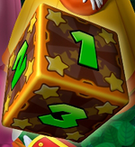 Artwork of the Dice Block, from Mario Party 7.