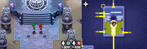 Location of the fourth and fifth beanholes in Peach's Castle.