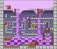 Level 10-8 map in the game Mario & Wario.