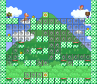 Level 3-10 map in the game Mario & Wario.