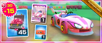 The Wild Pink Pack from the Bowser vs. DK Tour in Mario Kart Tour