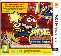 European (UK) cover art for Mario vs. Donkey Kong: Tipping Stars on Nintendo 3DS.