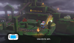 Mine Cart Ruins Rumble from Captain Toad: Treasure Tracker.