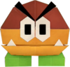 An origami Galoomba from Paper Mario: The Origami King.