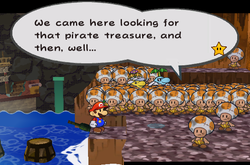 PMTTYD Pirate's Grotto Talking To Crowd.png