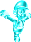 Rendered model of Ice Luigi in Super Mario Galaxy.