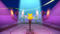 An image shown during the Sudden Death round of Shy Guys Finish Last in Paper Mario: The Origami King