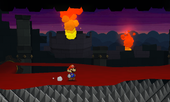 Bowser's Sky Castle in PMSS.