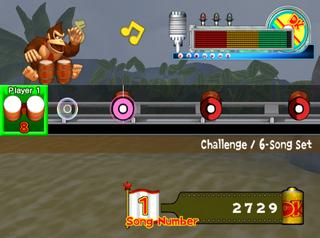 The Challenge mode of Donkey Konga 2.