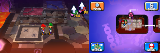Location of the fourth and fifth beanholes in Neo Bowser Castle (Dream Team's version).