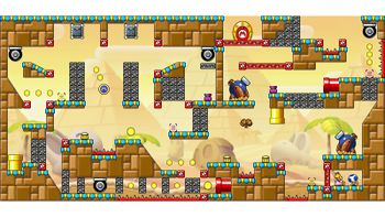 Miiverse screenshot of the 56th official level in the online community of Mario vs. Donkey Kong: Tipping Stars