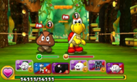 Screenshot of World 5-2, from Puzzle & Dragons: Super Mario Bros. Edition.