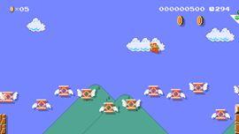 Even Trampolines Dream of Flying level in Super Mario Maker