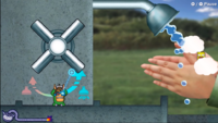 The Sanitation Station microgame from WarioWare: Get It Together!