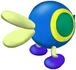 A blue Cataquack from Super Mario Sunshine.