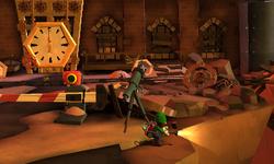 The Clockworks Court segment from Luigi's Mansion: Dark Moon.