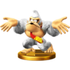 Donkey Kong trophy from Super Smash Bros. for Wii U
