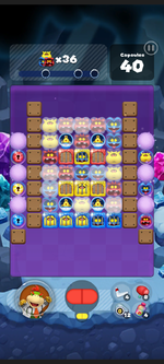 Stage 513 from Dr. Mario World