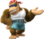 Artwork of Funky Kong from Donkey Kong Country: Tropical Freeze.