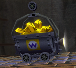 A Minecart from Wario's Gold Mine
