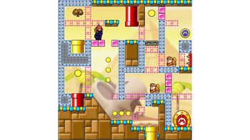 Miiverse screenshot of the 64th official level in the online community of Mario vs. Donkey Kong: Tipping Stars