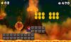 Mario, near some Volcanic debris, at World 6-1.
