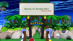 The official path of the Spring of Jungle Mist.