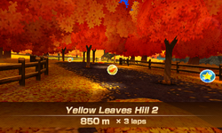 Yellow Leaves Hill 2 overview from Mario Sports Superstars
