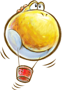 Hot-Air Balloon Yoshi from Yoshi's New Island