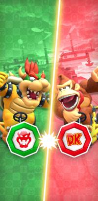 The Bowser vs. DK Tour from Mario Kart Tour