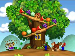 Wario loses in Honeycomb Havoc from Mario Party 2