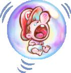 Artwork of Baby Mario, from Yoshi's New Island.