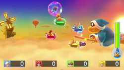 Boss minigame from Mario Party 10; Kamek's Rocket Rampage.