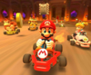 The icon of the Baby Mario Cup challenge from the London Tour and the Toadette Cup challenge from the Wedding Tour of Mario Kart Tour