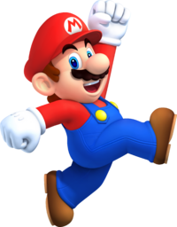 Artwork of Mario from New Super Mario Bros. 2