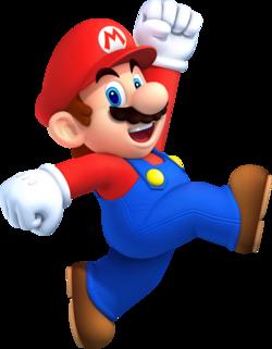 Artwork of Mario from New Super Mario Bros. 2