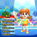 Princess Daisy Mii Costume in the game Mario & Sonic at the London 2012 Olympic Games for the Wii.