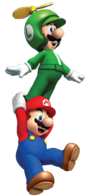 Mario and Propeller Luigi